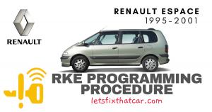 KeyFob RKE Programming Procedure-Renault Espace 1995-2001