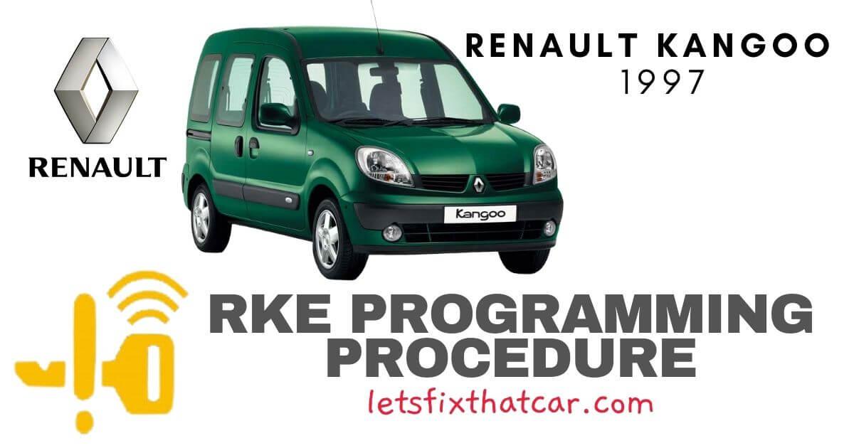 KeyFob RKE Programming Procedure-Renault Kangoo 1997
