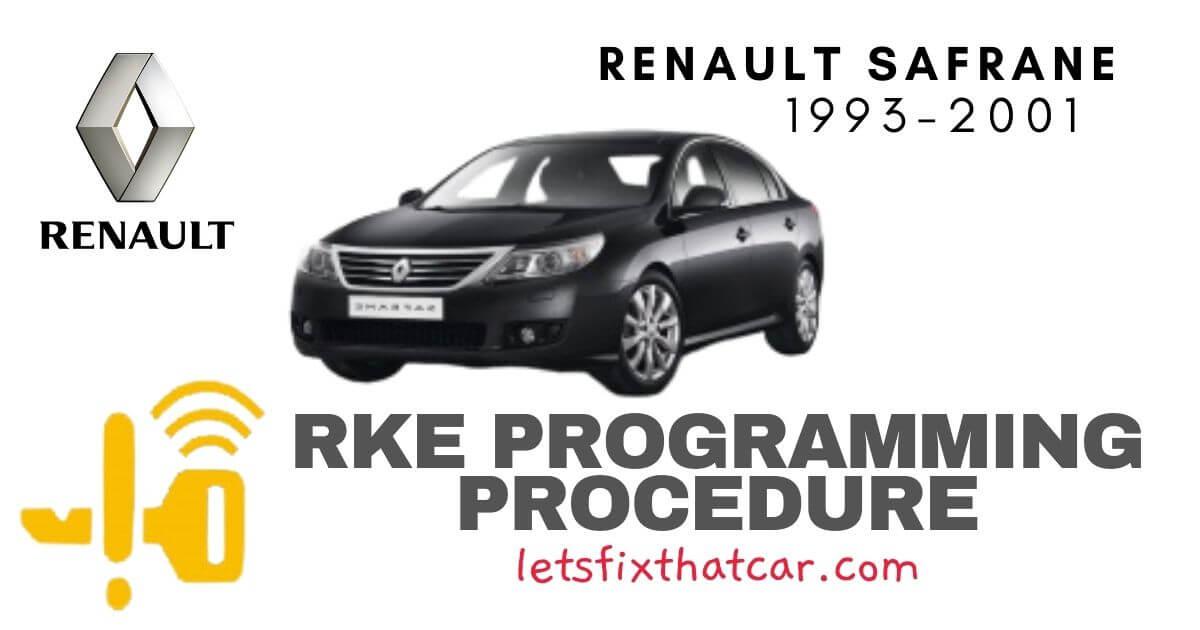 KeyFob RKE Programming Procedure-Renault Safrane 1993-2001