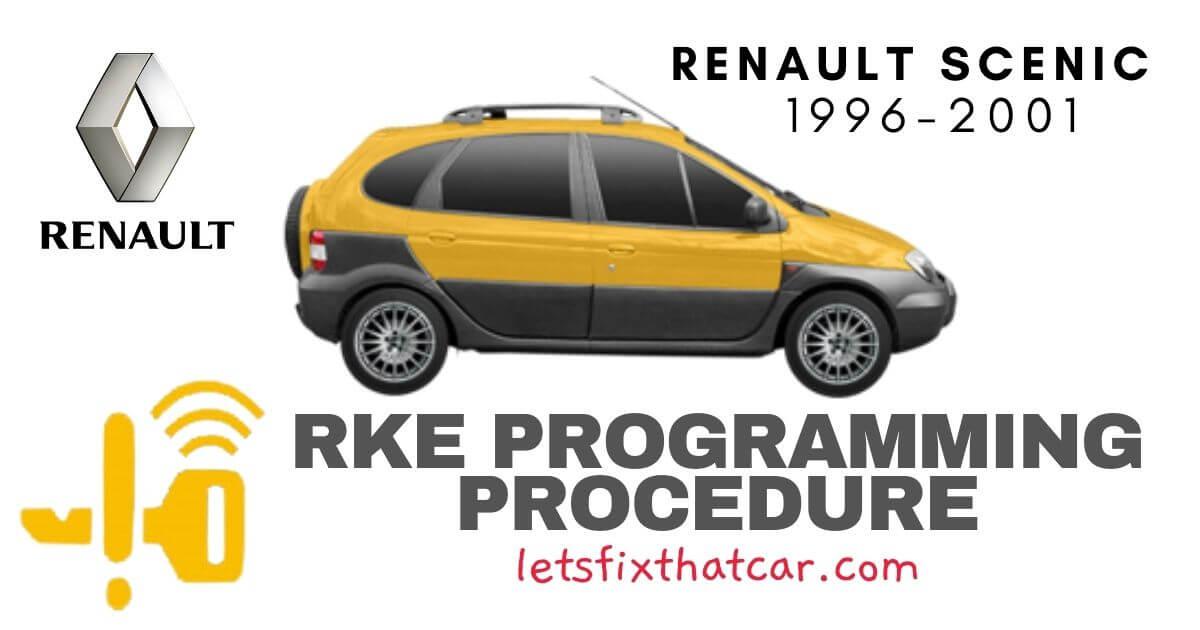 KeyFob RKE Programming Procedure-Renault Scenic 1996-2001