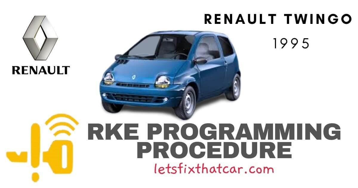 KeyFob RKE Programming Procedure-Renault Twingo 1995