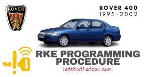 KeyFob RKE Programming Procedure-Rover 400 Series 1995-2002