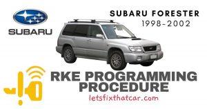 KeyFob RKE Programming Procedure-Subaru Forester 1998-2002