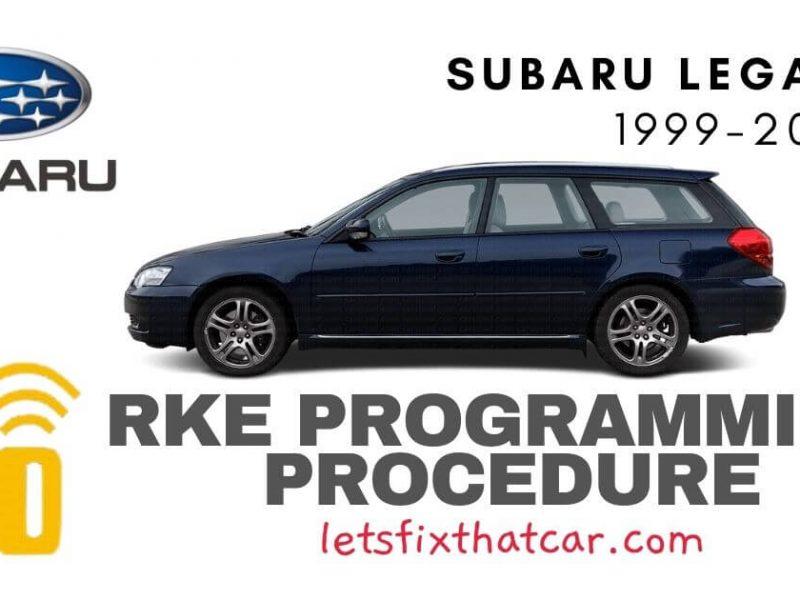 KeyFob RKE Programming Procedure-Subaru Legacy 1999-2003