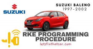 KeyFob RKE Programming Procedure-Suzuki Baleno 1997-2002