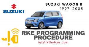 KeyFob RKE Programming Procedure-Suzuki Wagon R 1997-2005