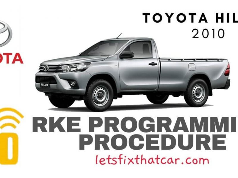 KeyFob RKE Programming Procedure-Toyota Hilux 2010