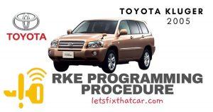 KeyFob RKE Programming Procedure-Toyota Kluger 2005