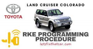 KeyFob RKE Programming Procedure-Toyota Land Cruiser Colorado