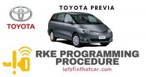 KeyFob RKE Programming Procedure-Toyota Previa