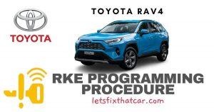 KeyFob RKE Programming Procedure-Toyota RAV4