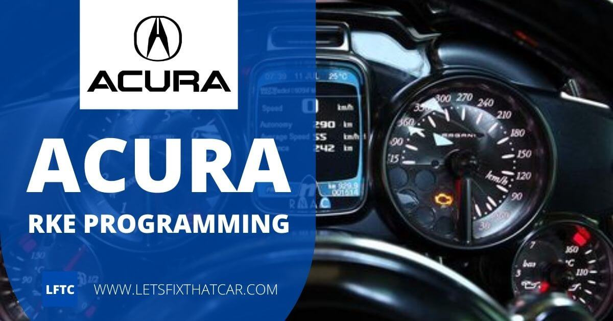 Acura RKE Programming