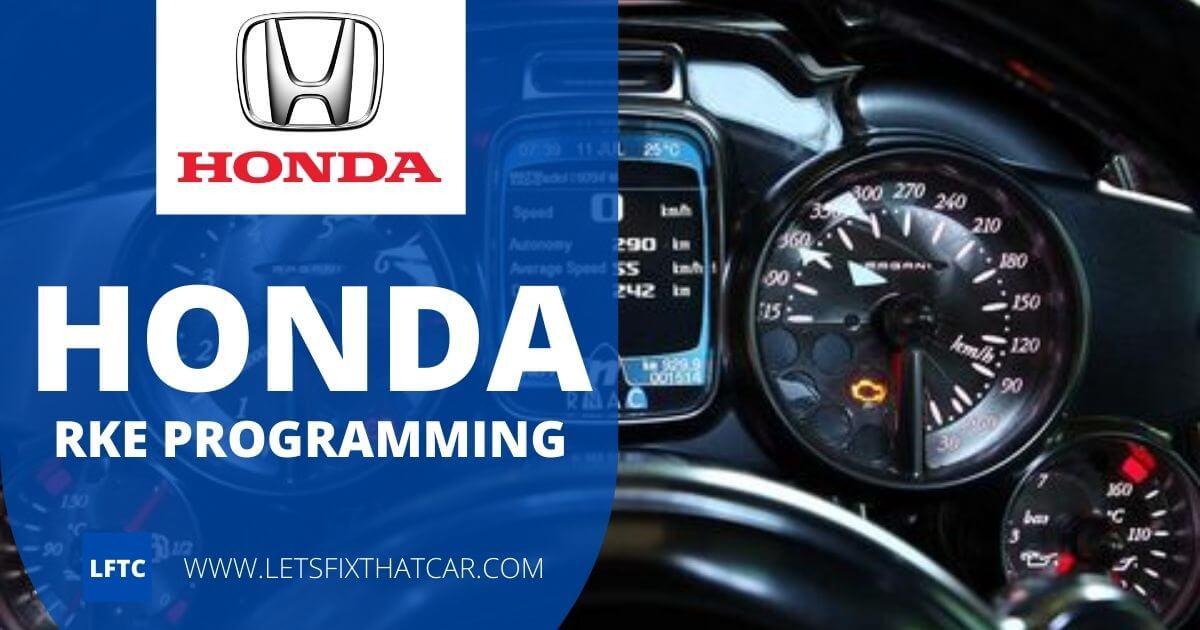 Honda RKE Programming
