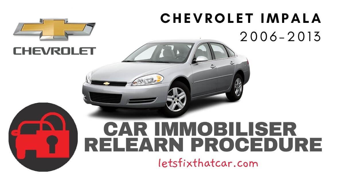 Key Programming Chevrolet Impala 2006-2013