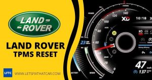 Land Rover TPMS Reset