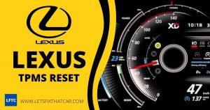 Lexus TPMS Reset