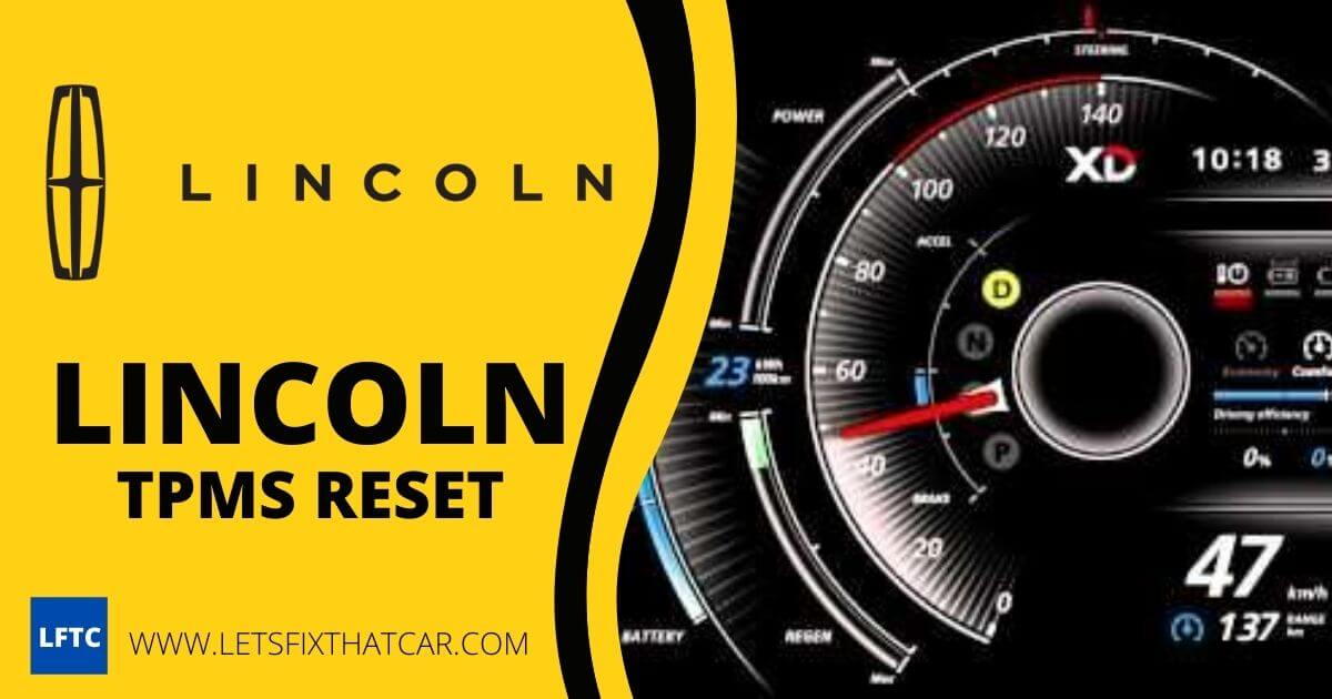 Lincoln TPMS Reset