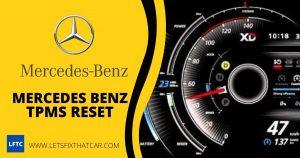 Mercedes Benz TPMS Reset