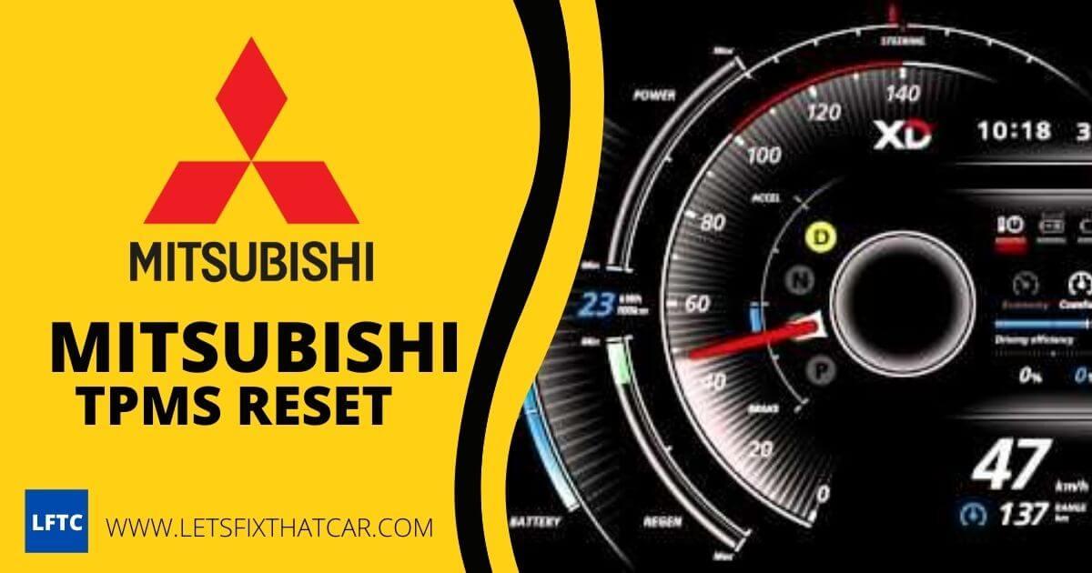 Mitsubishi TPMS Reset