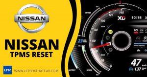 Nissan TPMS Reset