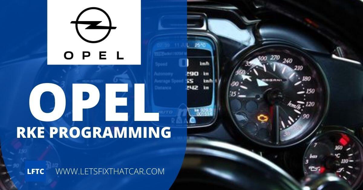 Opel RKE Programming