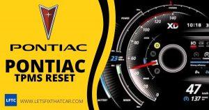 Pontiac TPMS Reset