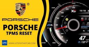 Porsche TPMS Reset