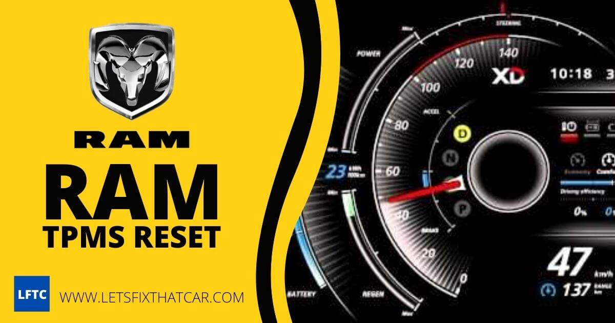 RAM TPMS Reset