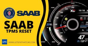 SAAB TPMS Reset