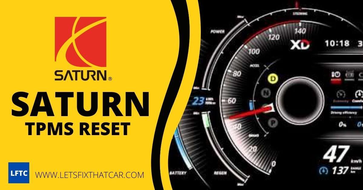 Saturn TPMS Reset