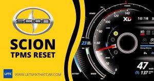 Scion TPMS Reset