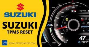 Suzuki TPMS Reset