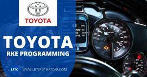 Toyota RKE Programming