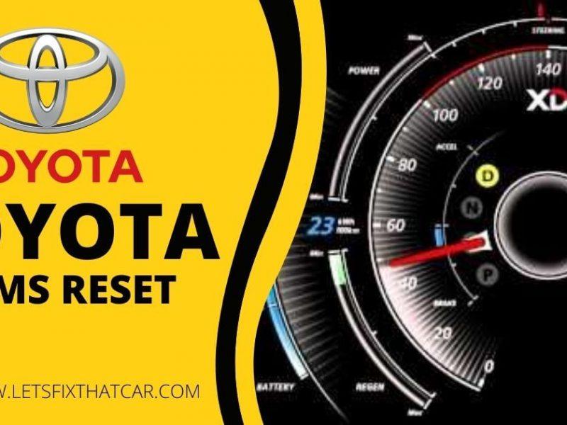 Toyota TPMS Reset