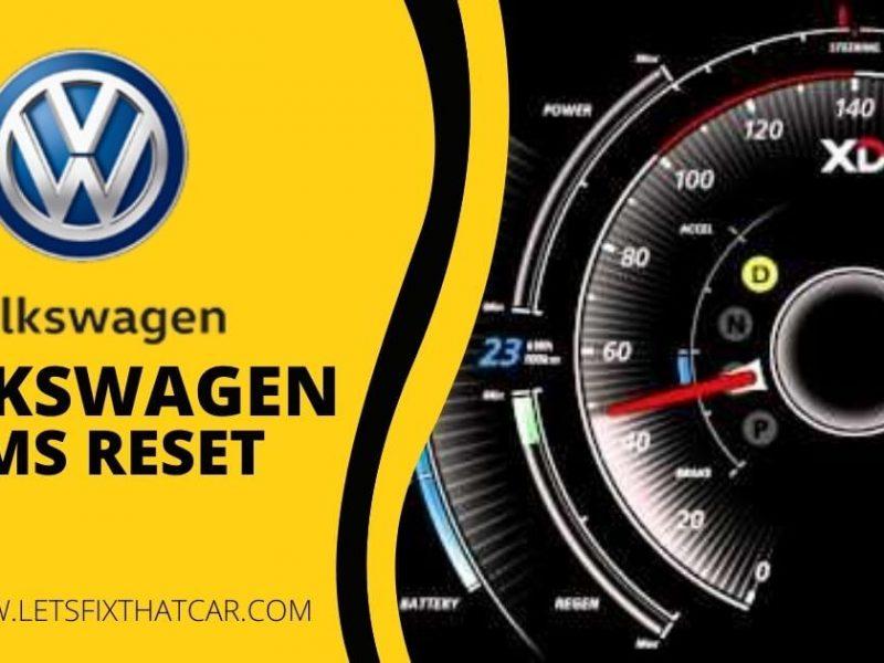 Volkswagen TPMS Reset