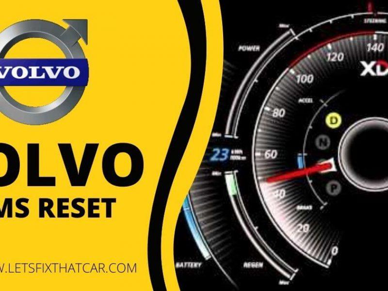 Volvo TPMS Reset