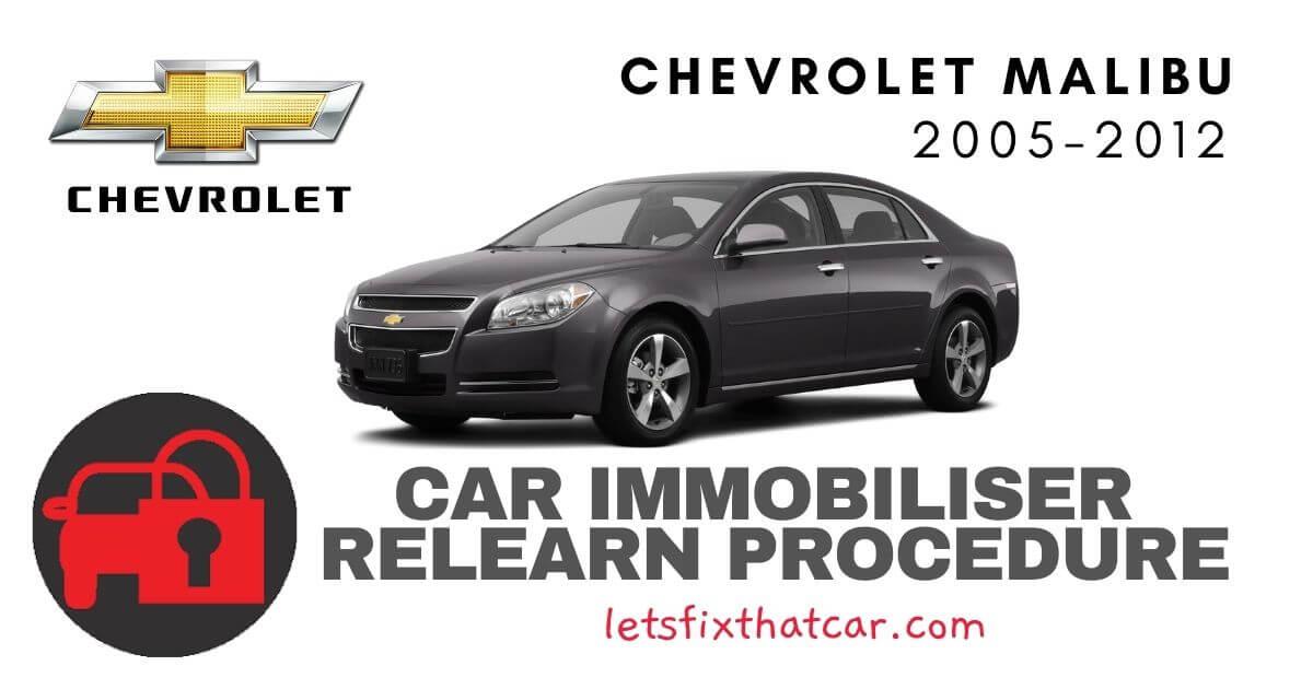 Key Programming Chevrolet Malibu 2005-2012