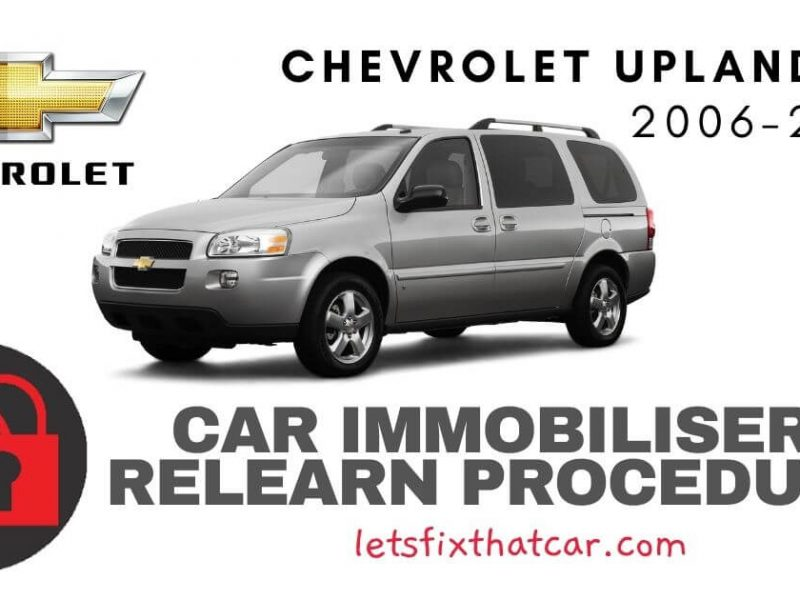 Key Programming Chevrolet Uplander 2006-2011