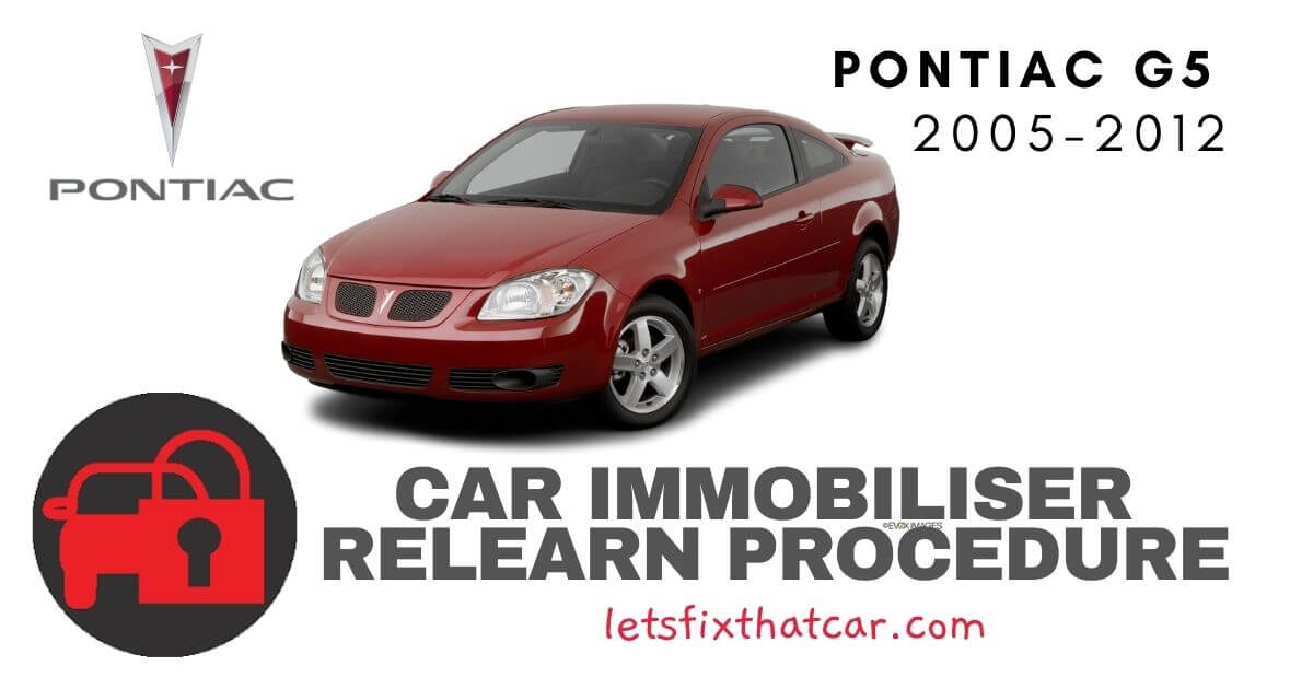 Key Programming Pontiac G5 2005-2012