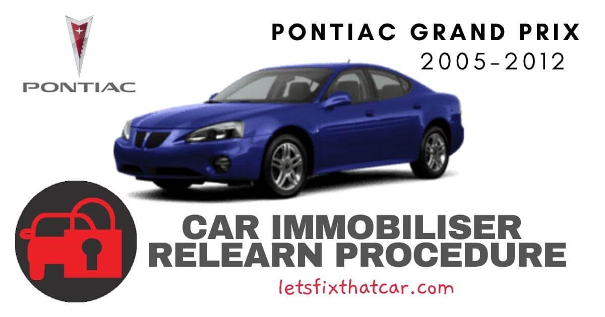 Key Programming Pontiac Grand Prix 2005-2012