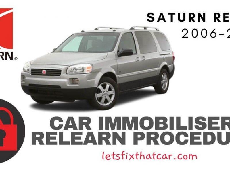 Key Programming Saturn Relay 2006-2011