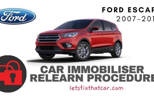 Key Programming Ford Escape 2007-2014