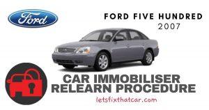 Key Programming Ford Five Hundred 2007