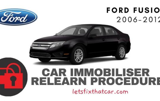 Key Programming Ford Fusion 2006-2012