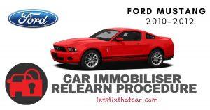 Key Programming Ford Mustang 2010-2012