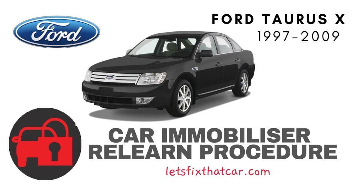 Key Programming Ford Taurus X 1997-2009