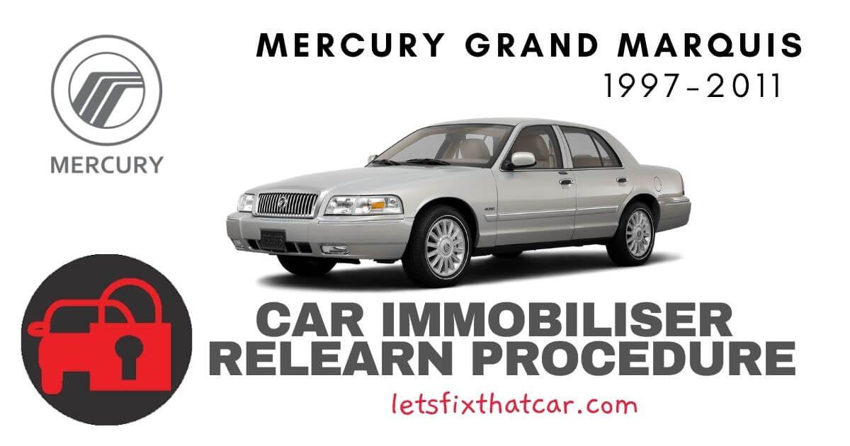 Key Programming Mercury Grand Marquis 1997-2011