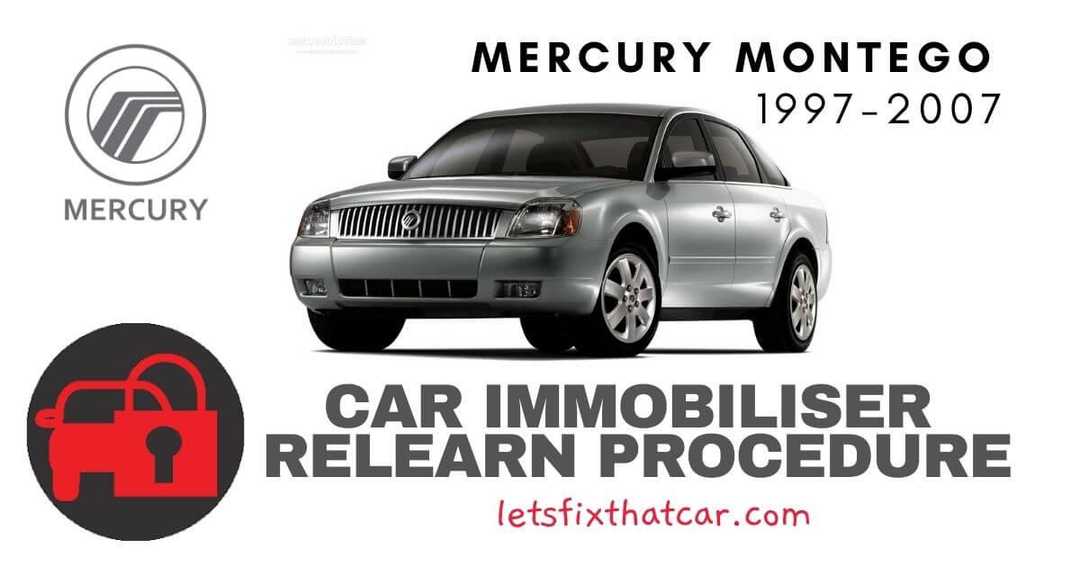 Key Programming Mercury Montego 1997-2007