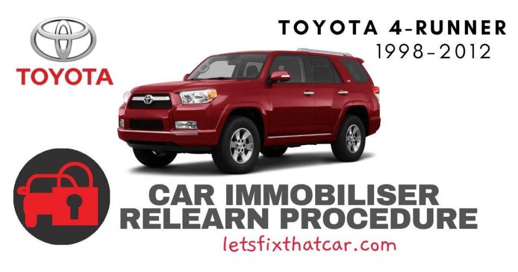 Key Programming Toyota 4-Runner 1998-2012