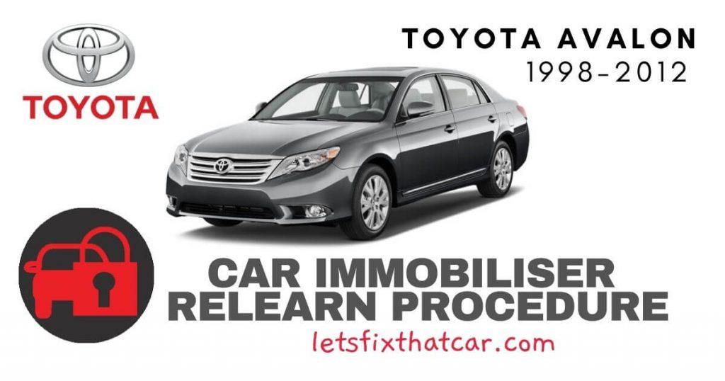 Key Programming Toyota Avalon 1998-2012